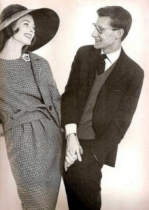 Suzy Parker and Yves Saint Laurent, photo by Richard Avedon for Harper's Bazaar, March 1959